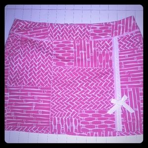 Lily Pulitzer Pink White Tennis Skort Skirt  Sz 8